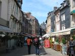 One of the many picturesque cobbled streets