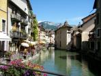 Annecy an easy 45 minute drive for a summer's day out
