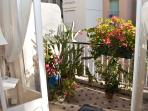 Our floral terrace from lounge area