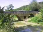 Medieval bridge 'Pont d'Artigue' was in use until very recently - a pleasant stroll f