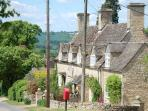 Wider view of The Cottage in the rolling Cotswolds