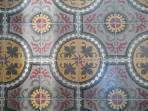 The antique French kitchen floor tiles