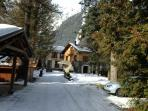 driveway to chalet