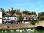 The nearby historic town of Arundel