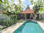 Quiet and Peaceful 2 bedroom Villa with Garden and Pool and a short walk to the Beach.