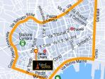 Positioning of Napoli Suites into Naples historical center