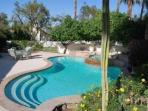 Uncork & Unwind!! Your Private Oasis 2 Bedroom / 2.5 Bath heated Pool & Spa by the Tennis Garden
