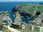 Legends of King Arthur at Tintagel. Witches at Boscastle nearby. Spectacular coastal views and walks