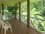 Relax on your large covered veranda