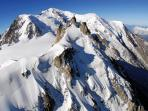 Stunning views of Mont-Blanc and surrounding mountains from the Aiguille du Midi