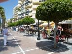A parade for the festival of San Bernabe in Marbella Town