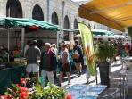 St Jean d'Angely's lively market