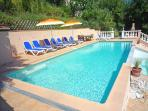 12 x 4 metre pool  with Loungers & Dining table