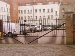 Secure gated compound for private car parking - modest additional cost