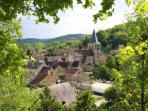 The pretty village of St Pompon