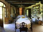 The Limonaia kitchen - formerly the building used for storing the lemon trees in winter..