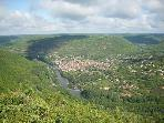 The dramatic Aveyron gorge from a viewing point