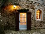 Entrance to La Petite Maison from the cobbled lane welcomes you home each night