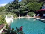 Beautiful and elegant swimming pool just a few metres from villa entrances