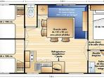 Plan of 3 bedroomed home