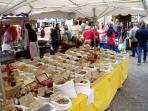 Spice stall at Cahors Market (Wed and Sat).  A visit to the Market and a drink in the bar is a must.