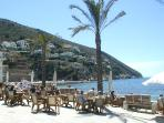 View from the cafe at El Portet