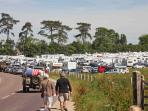 Camping cars Ste Mere Eglise 6.6.14...think our cottage more comfortable!