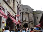 The busy streets of Le Mont St Michel