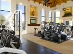 A 24 hour fitness center with latest equipment