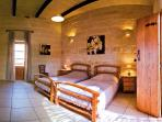 Twin Bedroom with ensuite and terrace overlooking country views
