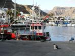 The fishing fleet in the commercial harbour ensures a good supply of fresh seafood from the Atlantic