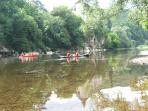 Canoeing on the Dordogne is incredibly popular