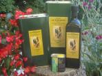 Our own-produced organic extra virgin olive oil