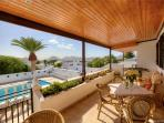 Furnished terrace-table football/easy chairs, relax in the evening in the glow of stunning sunsets!