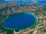 Nearby Lake Kournas. Its fresh water is great for swimming. Lots of taverns and pedalo