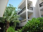 Balconies of studio apartments for up to 3 persons