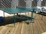 Table tennis, sandpit and Wendy House