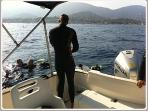 Organising holiday activities - going diving near the Bay of St Tropez