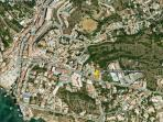 google earth location western algarve apartment for rent. Ideal near shops, bars, restaurants