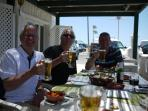 Lunch outdoors in a cliff top restaurant in Carvoeiro