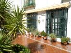 the andalusian patio with the apartment