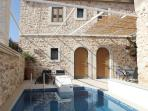 Rural, stone, 3 bedroom villa with private pool.