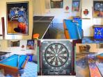 Games room with Pool Table, Darts &Table Tennis