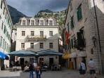 Square in Kotor old town