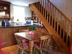 Dining within the open plan ground floor