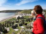 Ancient village of Aberdaron and the coastal footpath
