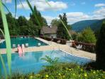 St Michael beautiful outdoor pool set into the Mountainside