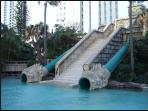 Everyone loves the lagoon pool water slides