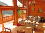 Stunning views whilst relaxing at Chalet Lac de Vonnes, Chatel