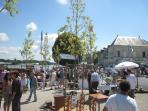 lively brocant market on second sunday of every month at Montsoreau - don't miss it!
